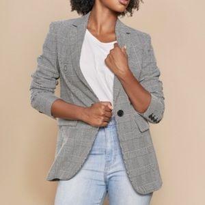 Brand New Zara Houndstooth Plaid Blazer